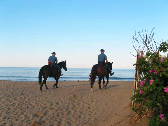 Mounted Patrol in Salisbury Beach